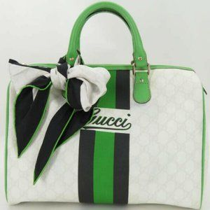 Gucci White Supreme Joy Boston Green 872713